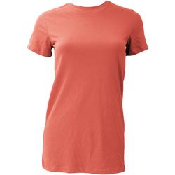 Textiel Dames T-shirts korte mouwen Bella + Canvas BE6004 Koraal