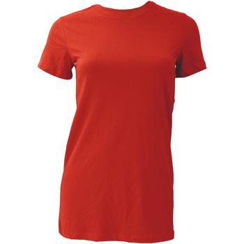 Textiel Dames T-shirts korte mouwen Bella + Canvas BE6004 Rood