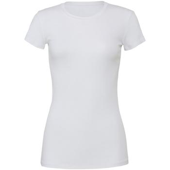 Textiel Dames T-shirts korte mouwen Bella + Canvas BE6004 Wit