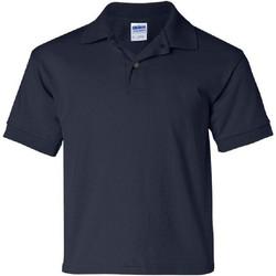 Textiel Kinderen Polo's korte mouwen Gildan 8800B Marine Blauw