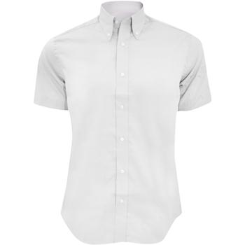 Textiel Heren Overhemden korte mouwen Kustom Kit KK187 Wit