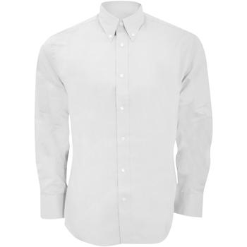 Textiel Heren Overhemden lange mouwen Kustom Kit KK188 Wit