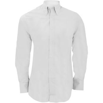 Textiel Heren Overhemden lange mouwen Kustom Kit KK386 Wit