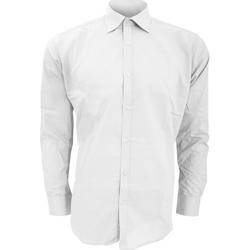 Textiel Heren Overhemden lange mouwen Kustom Kit KK192 Wit