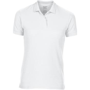 Textiel Dames Polo's korte mouwen Gildan 75800L Wit