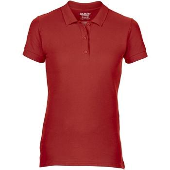 Textiel Dames Polo's korte mouwen Gildan 85800L Rood