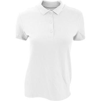 Textiel Dames Polo's korte mouwen Gildan 85800L Wit