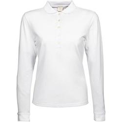 Textiel Dames Polo's lange mouwen Tee Jays TJ146 Wit
