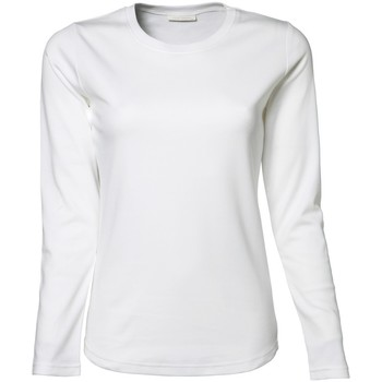 Textiel Dames T-shirts met lange mouwen Tee Jays TJ590 Wit