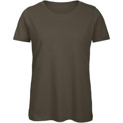 Textiel Dames T-shirts korte mouwen B And C TW043 Khaki