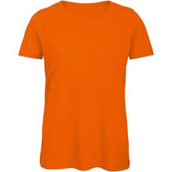 Textiel Dames T-shirts korte mouwen B And C TW043 Oranje