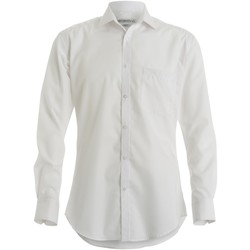 Textiel Heren Overhemden lange mouwen Kustom Kit KK113 Wit