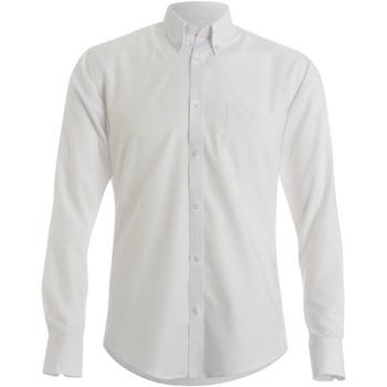 Textiel Heren Overhemden lange mouwen Kustom Kit KK139 Wit