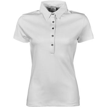 Textiel Dames Polo's korte mouwen Tee Jays Pima Wit