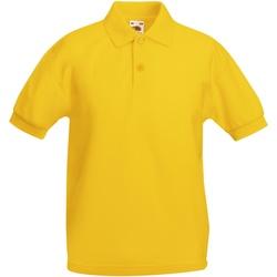 Textiel Kinderen Polo's korte mouwen Fruit Of The Loom 63417 Zonnebloem Geel
