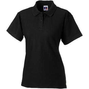 Textiel Dames Polo's korte mouwen Jerzees Colours 539F Zwart