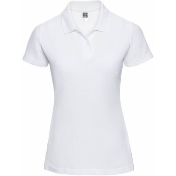 Textiel Dames Polo's korte mouwen Jerzees Colours 539F Wit