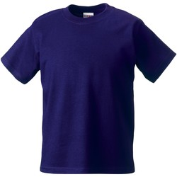 Textiel Kinderen T-shirts korte mouwen Jerzees Schoolgear ZT180B Paars
