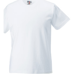 Textiel Kinderen T-shirts korte mouwen Jerzees Schoolgear ZT180B Wit