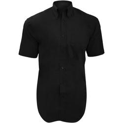 Textiel Heren Overhemden korte mouwen Kustom Kit KK109 Zwart