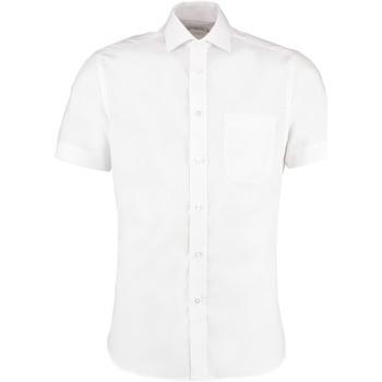 Textiel Heren Overhemden korte mouwen Kustom Kit KK115 Wit