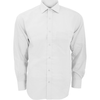 Textiel Heren Overhemden lange mouwen Kustom Kit KK116 Wit