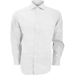 Textiel Heren Overhemden lange mouwen Kustom Kit KK118 Wit