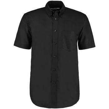 Textiel Heren Overhemden korte mouwen Kustom Kit KK350 Zwart