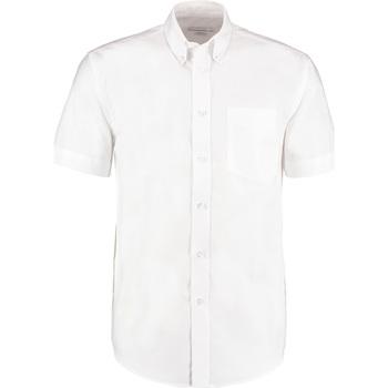 Textiel Heren Overhemden korte mouwen Kustom Kit KK350 Wit