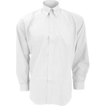 Textiel Heren Overhemden lange mouwen Kustom Kit KK351 Wit