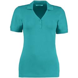 Textiel Dames Polo's korte mouwen Kustom Kit Sophia Turquoise