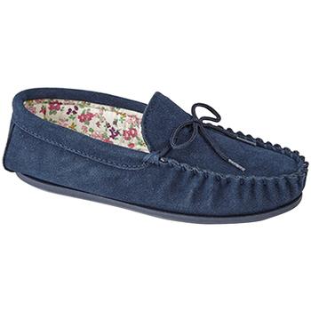 Schoenen Dames Sloffen Mokkers Lily Marine