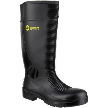 Schoenen Heren veiligheidsschoenen Amblers FS100 Safety Black Wellingtons Zwart