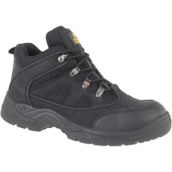 Schoenen Heren veiligheidsschoenen Amblers FS151 BLACK MID BOOT SB-P Zwart