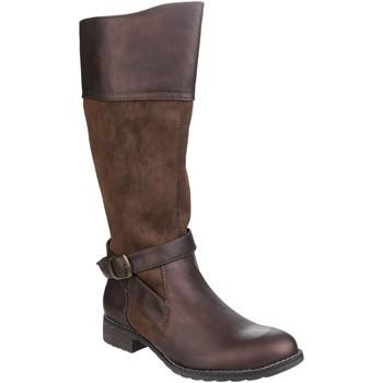 Schoenen Dames Hoge laarzen Divaz  Bruin