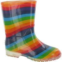 Schoenen Meisjes Regenlaarzen Cotswold PVC KIDS RAINBOW Multi