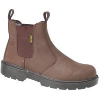 Schoenen Heren Laarzen Amblers FS128 Safety Bruin