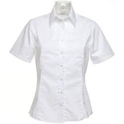 Textiel Dames Overhemden Kustom Kit K742F Wit