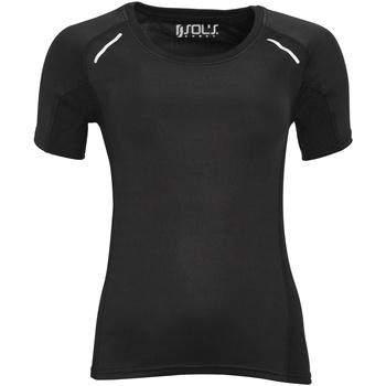 Textiel Dames T-shirts korte mouwen Sols 01415 Zwart
