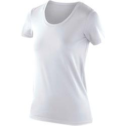 Textiel Dames T-shirts korte mouwen Spiro SR280F Wit