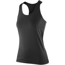 Textiel Dames Mouwloze tops Spiro SR281F Zwart