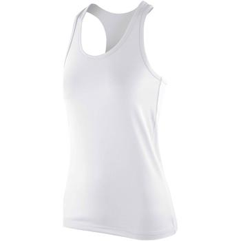 Textiel Dames Mouwloze tops Spiro SR281F Wit