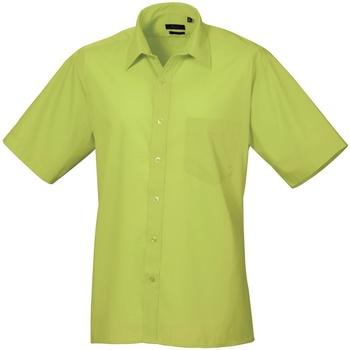 Textiel Heren Overhemden korte mouwen Premier PR202 Kalk