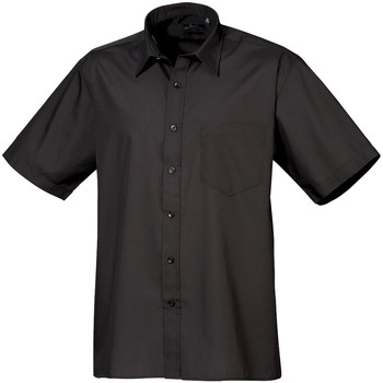 Textiel Heren Overhemden korte mouwen Premier PR202 Zwart