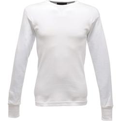 Textiel Heren T-shirts met lange mouwen Regatta RG289 Wit