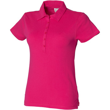 Textiel Dames Polo's korte mouwen Skinni Fit SK042 Fuchsia