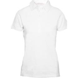 Textiel Dames Polo's korte mouwen Skinni Fit SK042 Wit