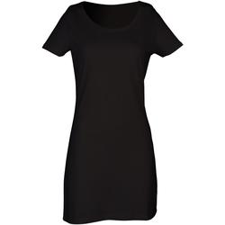 Textiel Dames Korte jurken Skinni Fit Scoop Neck Zwart