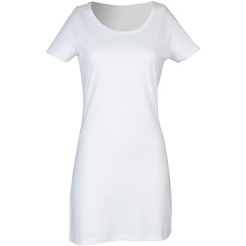 Textiel Dames Korte jurken Skinni Fit Scoop Neck Wit