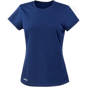 Textiel Dames T-shirts korte mouwen Spiro S253F Marine